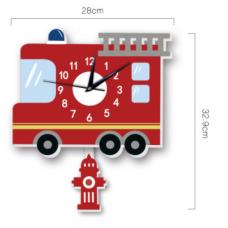 Часы настенные пожарная машина