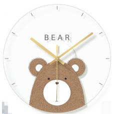 Часы настенные мишка