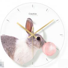 Часы настенные кролик