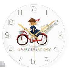 Часы настенные девочка на велосипеде