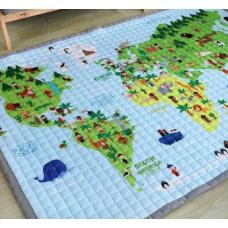 КОВРИК ДЕТСКИЙ ХЛОПКОВЫЙ карта мира