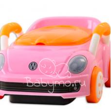ГОРШОК МАШИНКА Volkswagen розовый