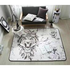 КОВРИК В ДЕТСКУЮ ПЛЮШЕВЫЙ   tiger белый
