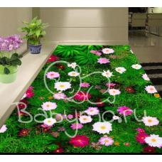 КОВРИК 3D поляна с цветочками