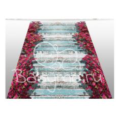 КОВРИК 3D мостик с цветами