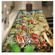 КОВРИК 3D рыбки
