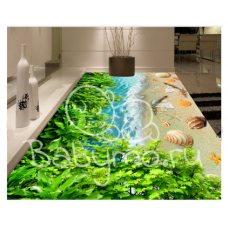 КОВРИК 3D лиственное побережье