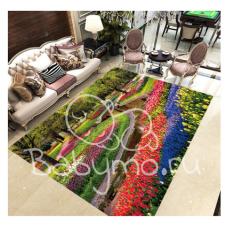 КОВРИК 3D цветочный лабиринт