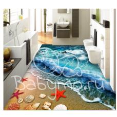 КОВРИК 3D голубая волна