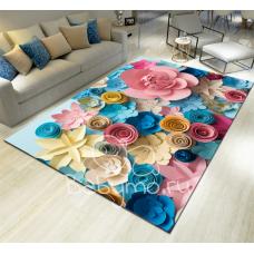 КОВРИК 3D объемные цветы