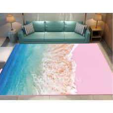 КОВРИК В ГОСТИНУЮ розовый берег